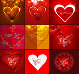 Happy valentine's day beautiful background for card collection v