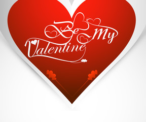 be my valentine card for heart colorful background vector