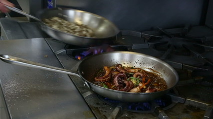 Cooking Octopus on the Stove