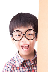 cute asian boy wear glasses (retro filter)