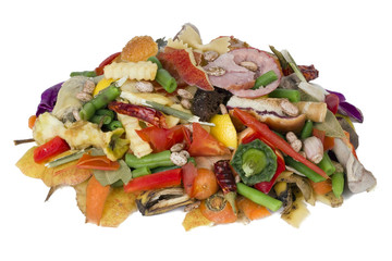 Heap of rotten food
