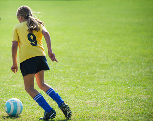 Teen Girl soccer player