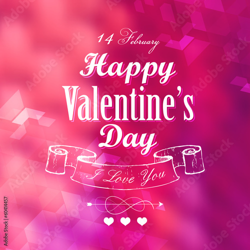 Happy Valentines Typography Background