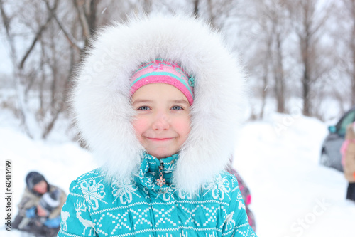 Winter girl outdoors