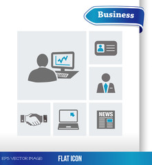 eps Vector image:Flat icon Business