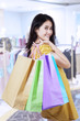 Beauty woman with shopping bags