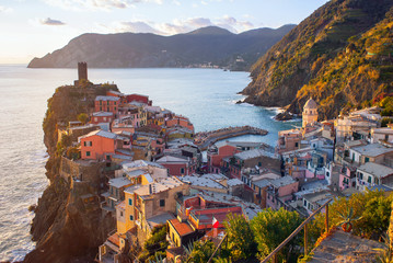 Vernazza at sunset, Italy
