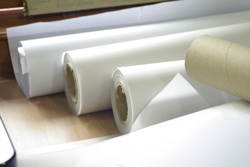 roll of plotter paper for printing