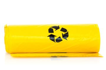 Yellow garbage bio bags