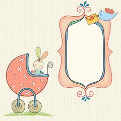 Baby Girl Bunny Frame