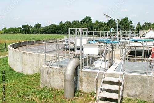 Leinwanddruck Bild Waste-water cleaning technologies details