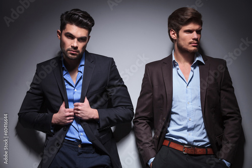 two relaxed fashion male models