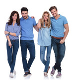 small group of casual young peolple standing together poster