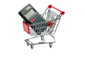 calculator in shopping cart