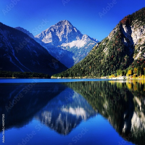 canvas print picture Berg mit See