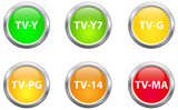 Television Parental Guidelines Buttons