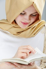 Young beautiful Muslim girl portrait