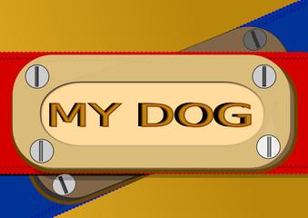 Collar con placa de identificación para perros