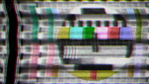TV test card noise