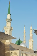 Prophet Muhammed holy mosque in Medina, KSA