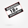 Warning Only Adults Parental Control Sticker