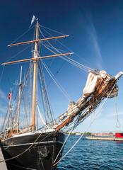 Bug eines großen, alten Segelschiffes