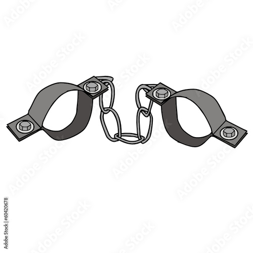shackles vector drawing