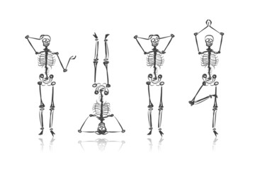 Skeleton sketches for your design