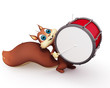 Squirrel with drum