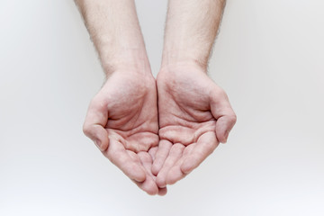 Male hand gesture