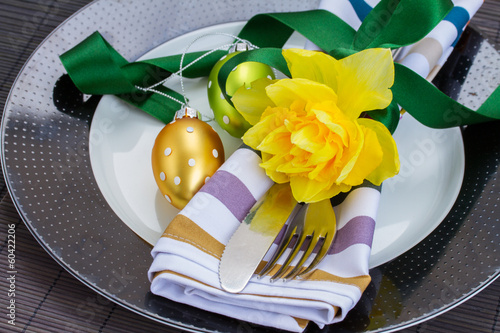 cutlery serving for easter
