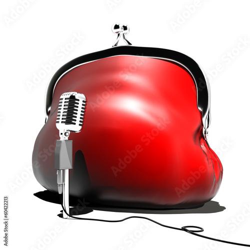 red purse speaker