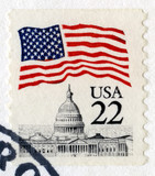 Vintage US 22 Cent Postage Stamp