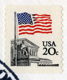 Vintage US 20 Cent Postage Stamp