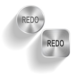 Redo. Vector set steel buttons