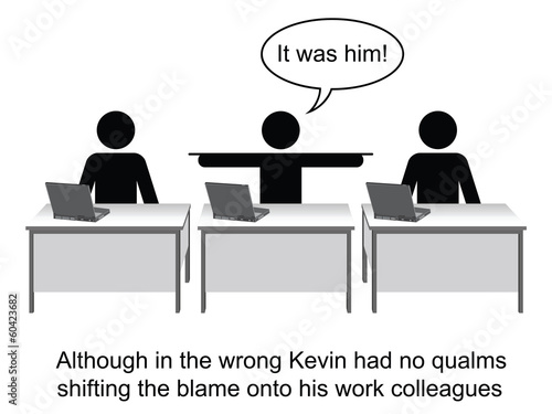 Kevin took no responsibility at work cartoon