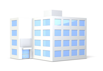 Miniature model of the office building