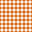 Orange and White Diagonal Checkers on Textured Fabric Background