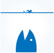サメ 逃げる