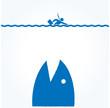 ビジネスマン サメ
