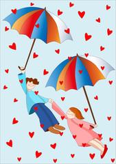 pioggia di cuori