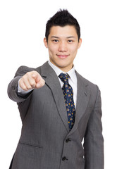 Asian businessman point to you