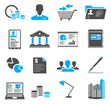 Fototapety Office and Business Icons