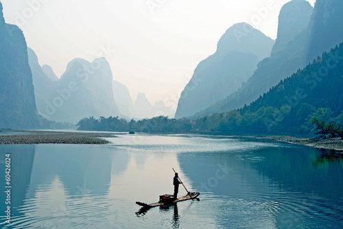 Deurstickers China the Guilin Scenery