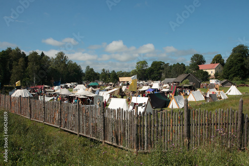 Vikings camp on the Aland Islands