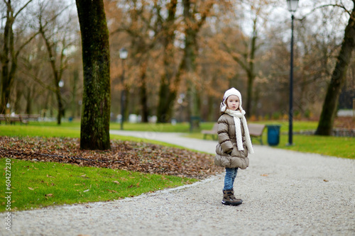 Little girl at autumn