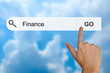 Finance on search toolbar