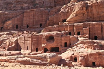 Rock Cut Tombs at Petra, Jordan