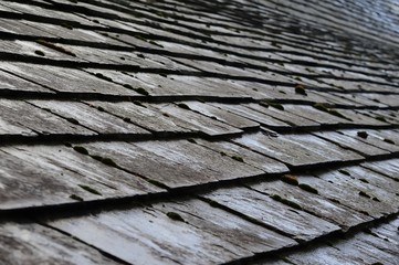 Lines of Gray Roof Slates