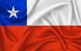 Flag of Chile waving with silky look